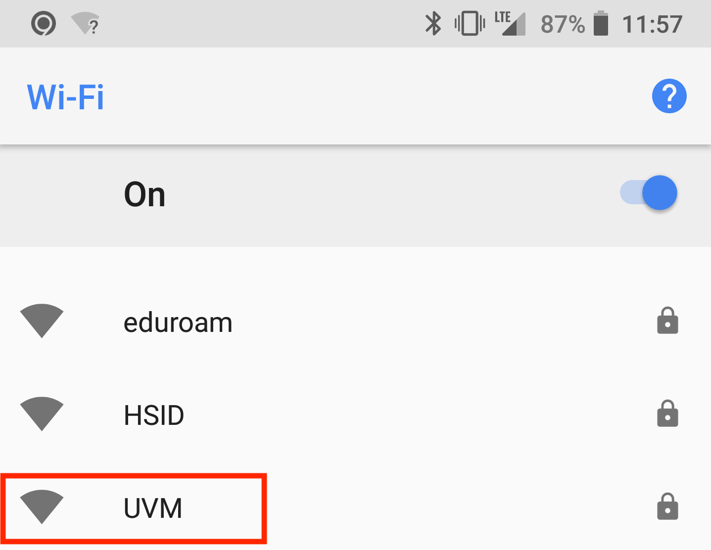 Connect To Uvm Wireless Ets Knowledge Base Set Up Printer Diagram After Installing Naming The Certificate Open Your Devices Wi Fi Settings And Select Network