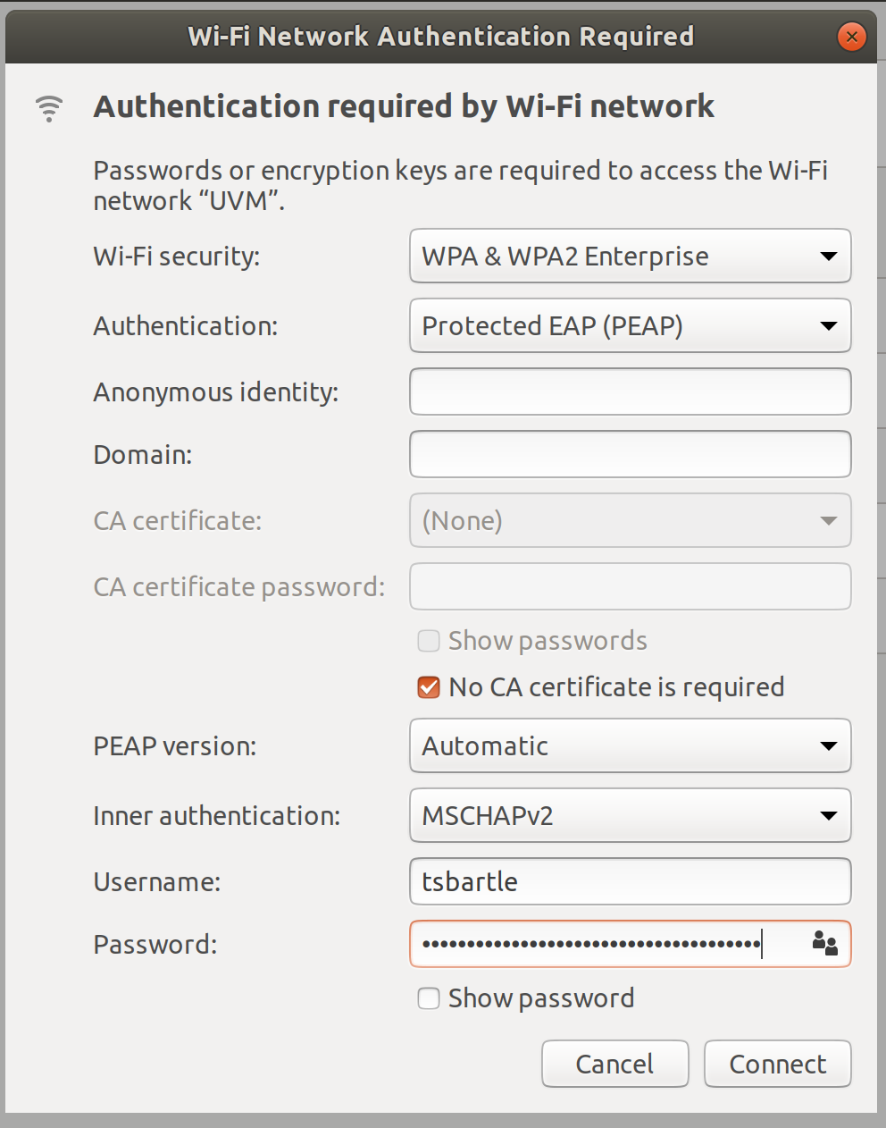 Connect to UVM Wireless – ETS Knowledge Base