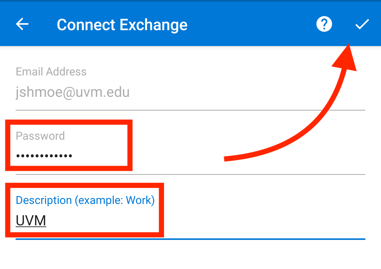 Add a UVM email account to your device – ETS Knowledge Base