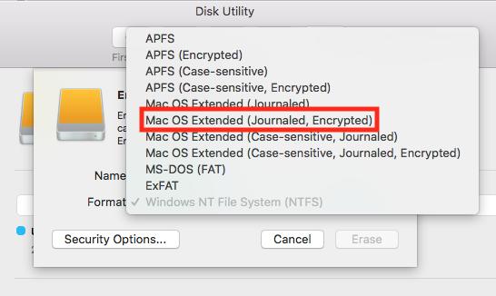 Encrypting an External Drive – ETS Knowledge Base