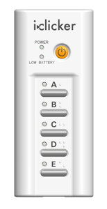 Photo of an iClicker device.