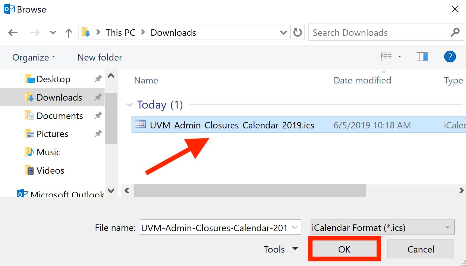 UVM Internet Calendars – ETS Knowledge Base