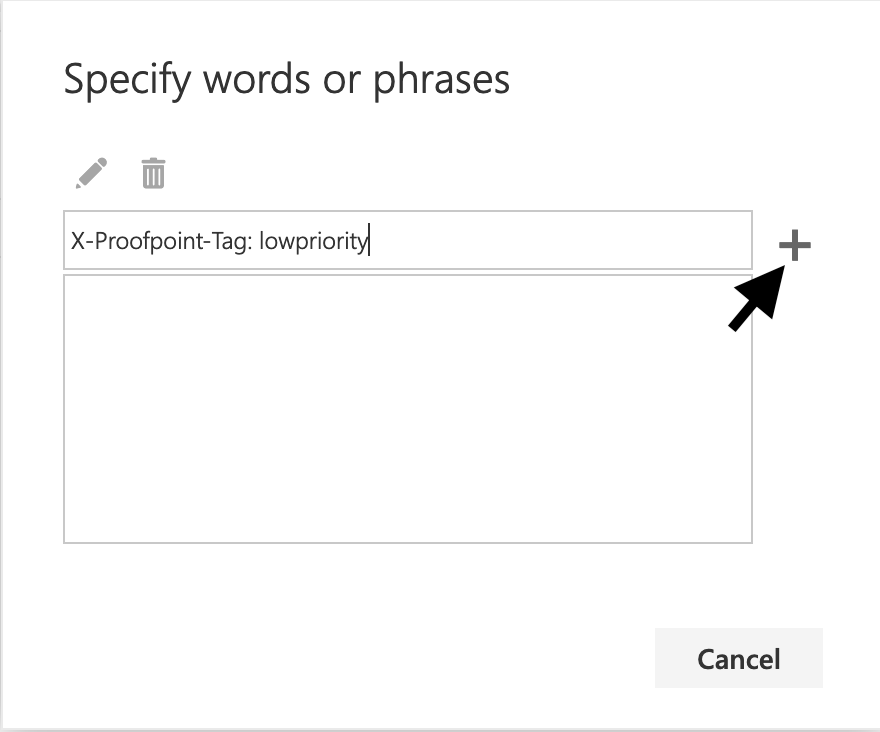 add low priority words