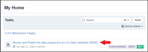 image of Blue My Home web page with a DIG task highlighted