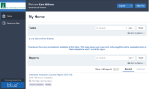 image of Blue application instructor home page